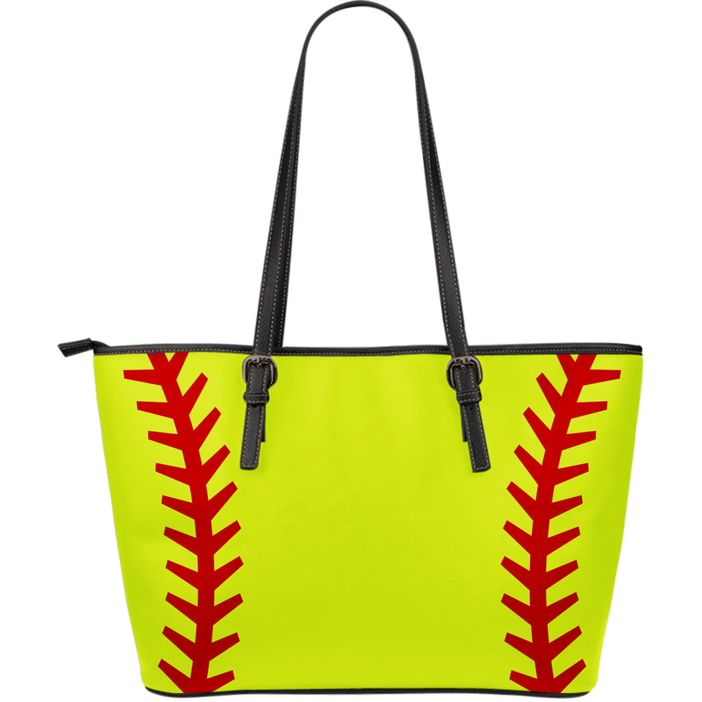 Softball Tote Bags with Ball Stitch Design