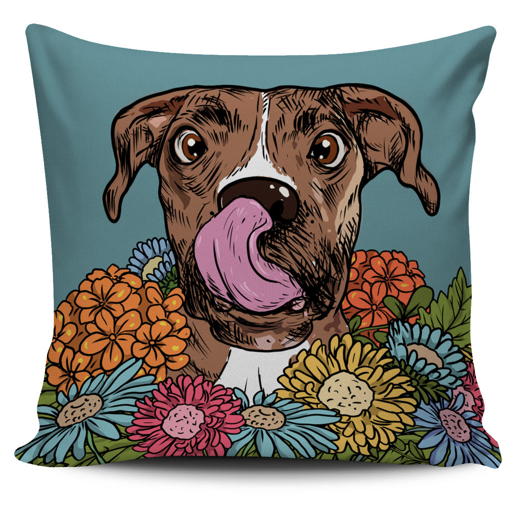 Illustrated Boxer Pillow Cover