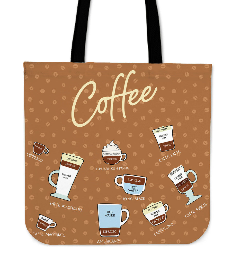 Coffee Lovers Linen Tote