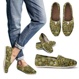 Floral Military Peeps Casual Shoes