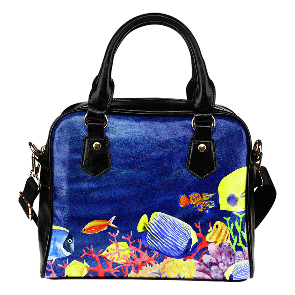 Tropical Fish Shoulder Handbag