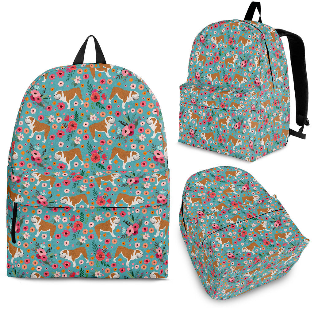 Bulldog Flower Backpack