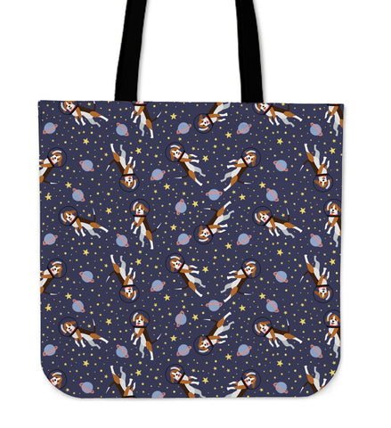 Space Beagle Linen Tote Bag