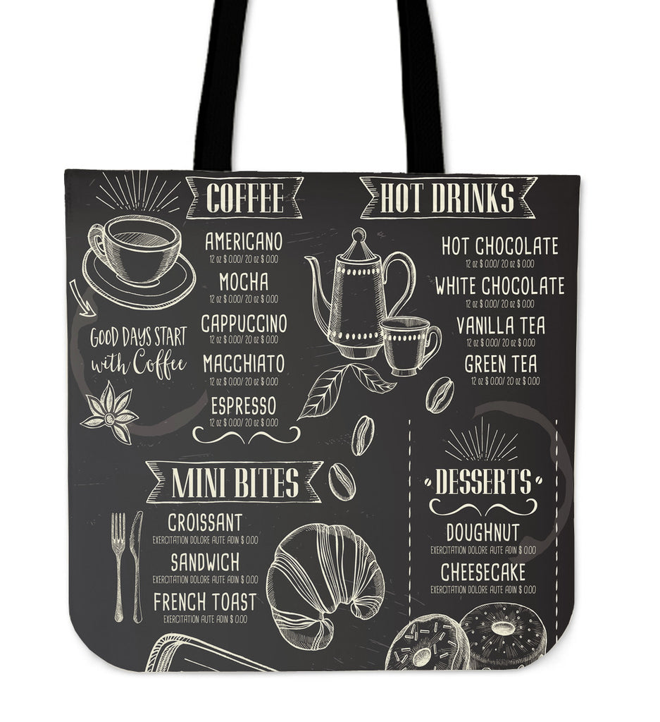 Coffee House Linen Tote Bag