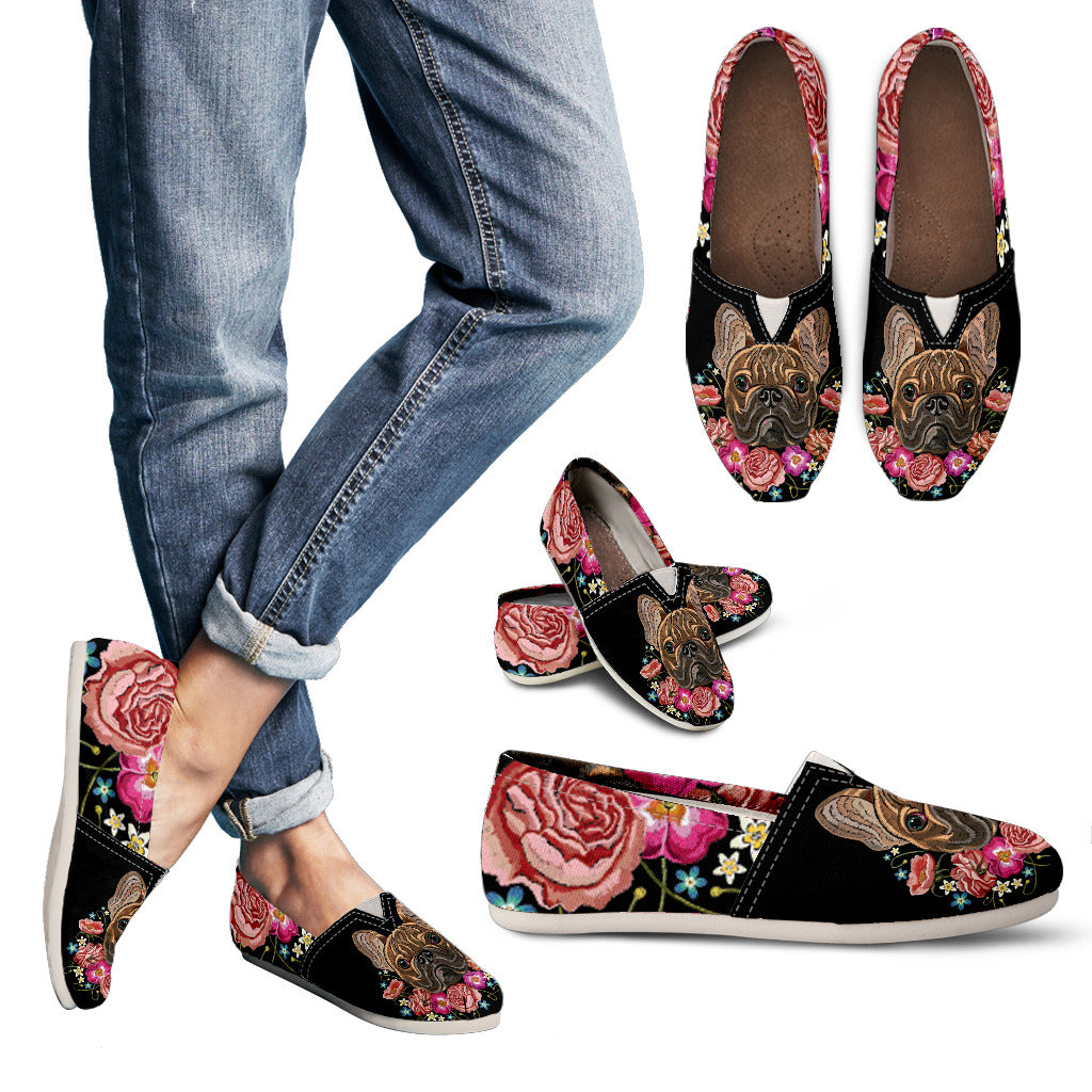 Embroidery Dog Casual Shoes-Clearance