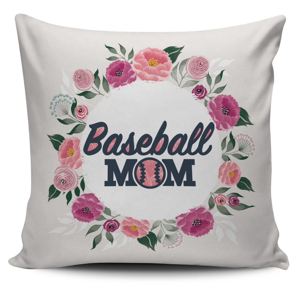Baseball Mom Pillow Cover