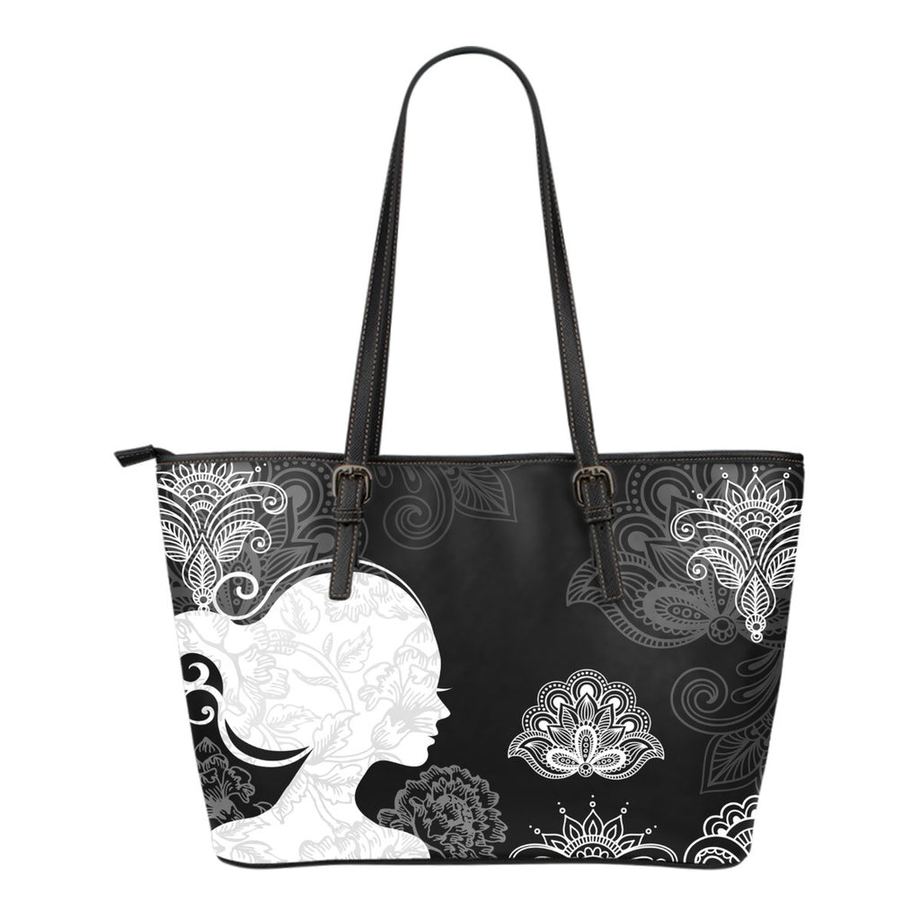 Woman Paisley Pattern Tote Bag