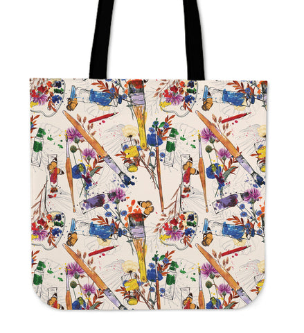 Wildflower Artist Linen Tote Bag