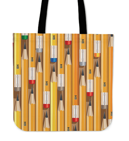 HB Pencils Linen Tote Bag