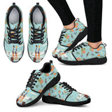 Floral Flight Attendant Athletic Sneakers