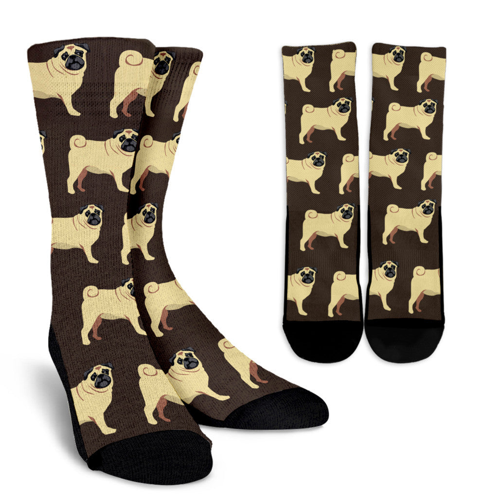 Pug Pattern Socks