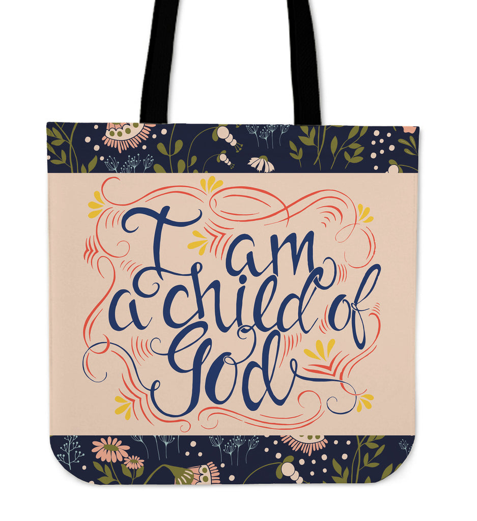 Child Of God Linen Tote Bag