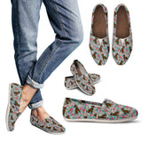 Chocolate Labrador Flower Casual Shoes-Clearance