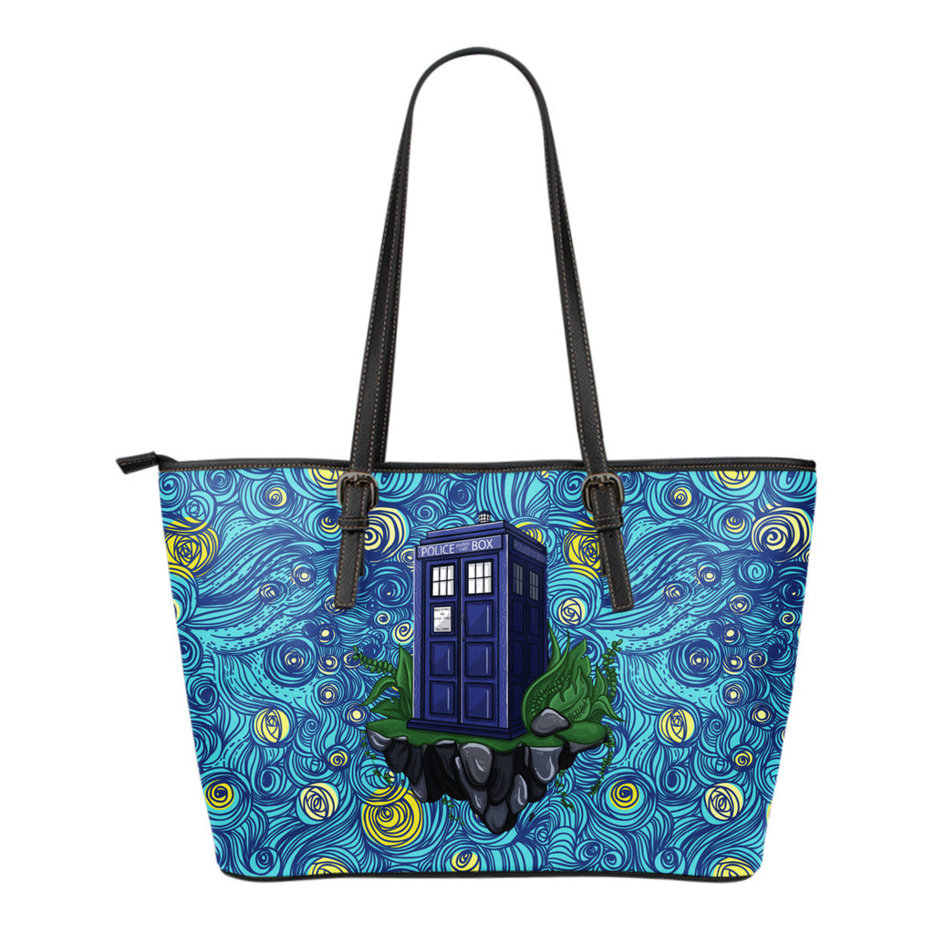 Dr Who Tardis Starry Night Tote Bag