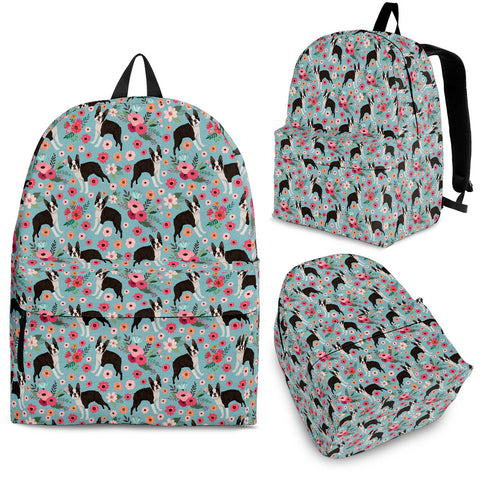 Boston Terrier Flower Backpack