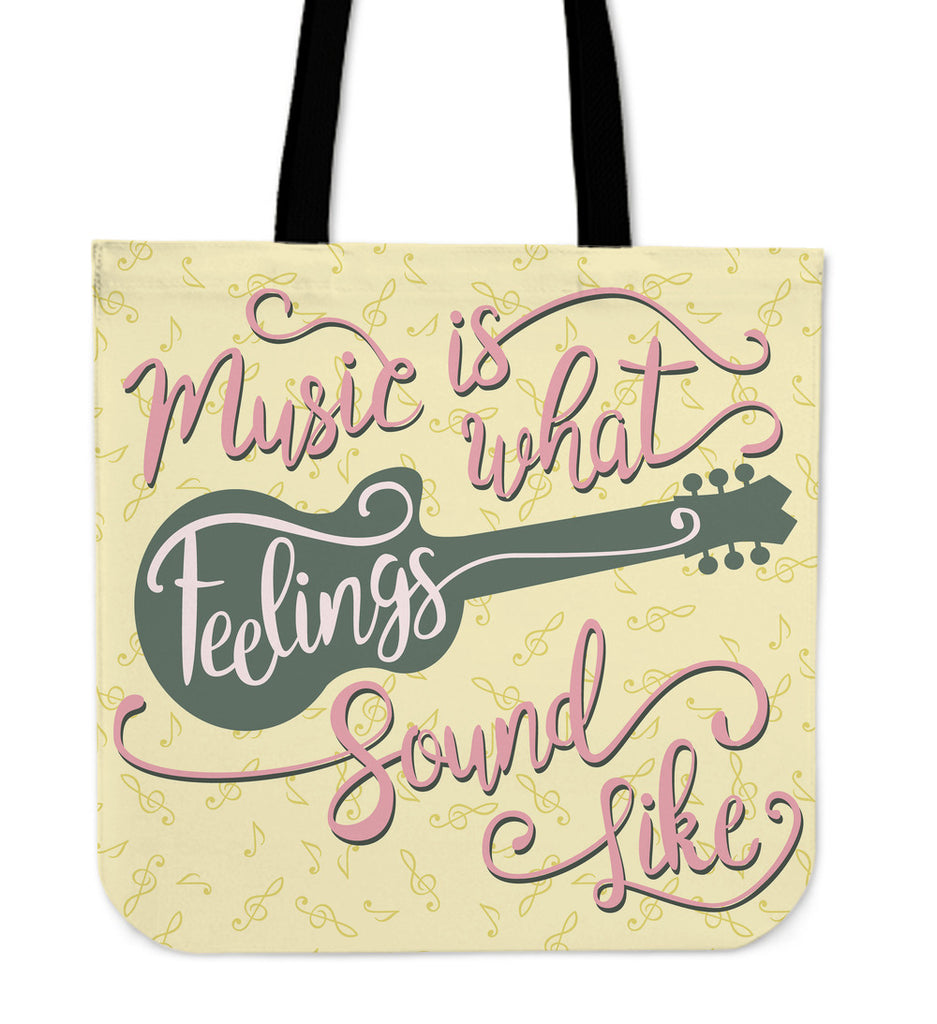 Feeling Music Linen Tote Bag