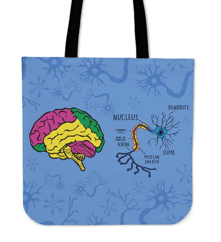 Neuroscience Linen Tote Bag