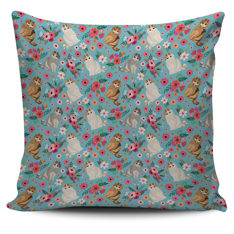 Exotic Short Hair Flower Pillow Cover-Clearance