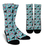 Doberman Flower Socks