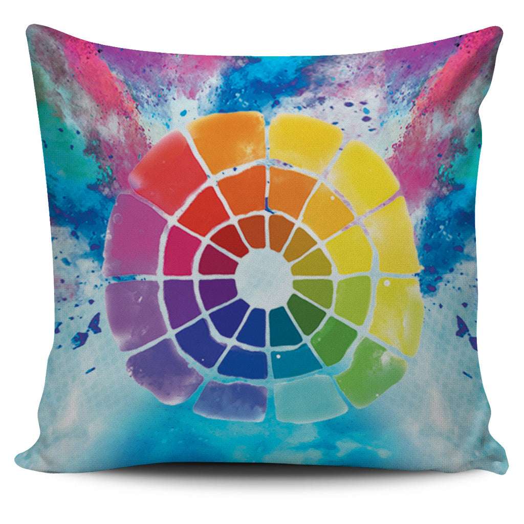Color Wheel Pillow Cover