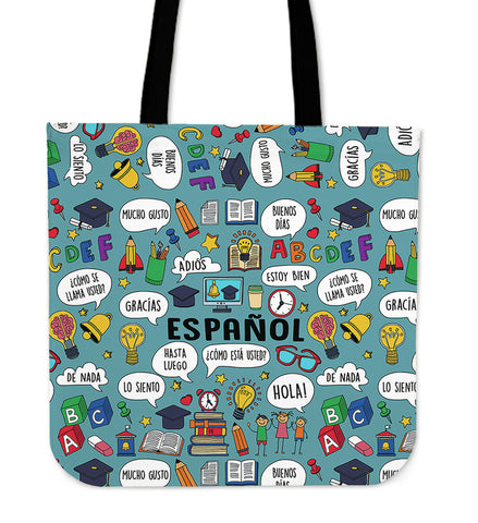 Spanish Teacher Linen Tote