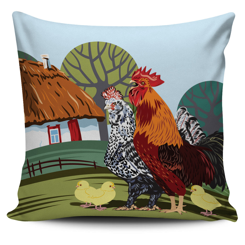 Rural Landscape Pillow Cover