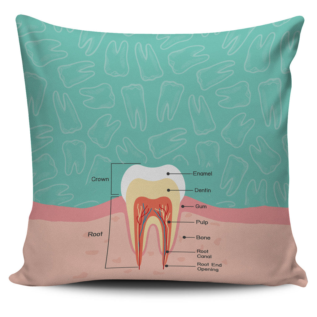 Dentist Diagram Pillow Cover