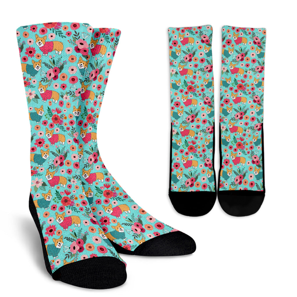Corgi Flower Socks - Promo