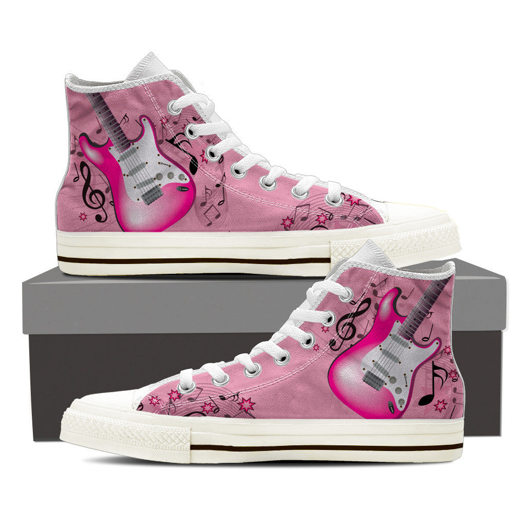 Pink Guitar Shoes