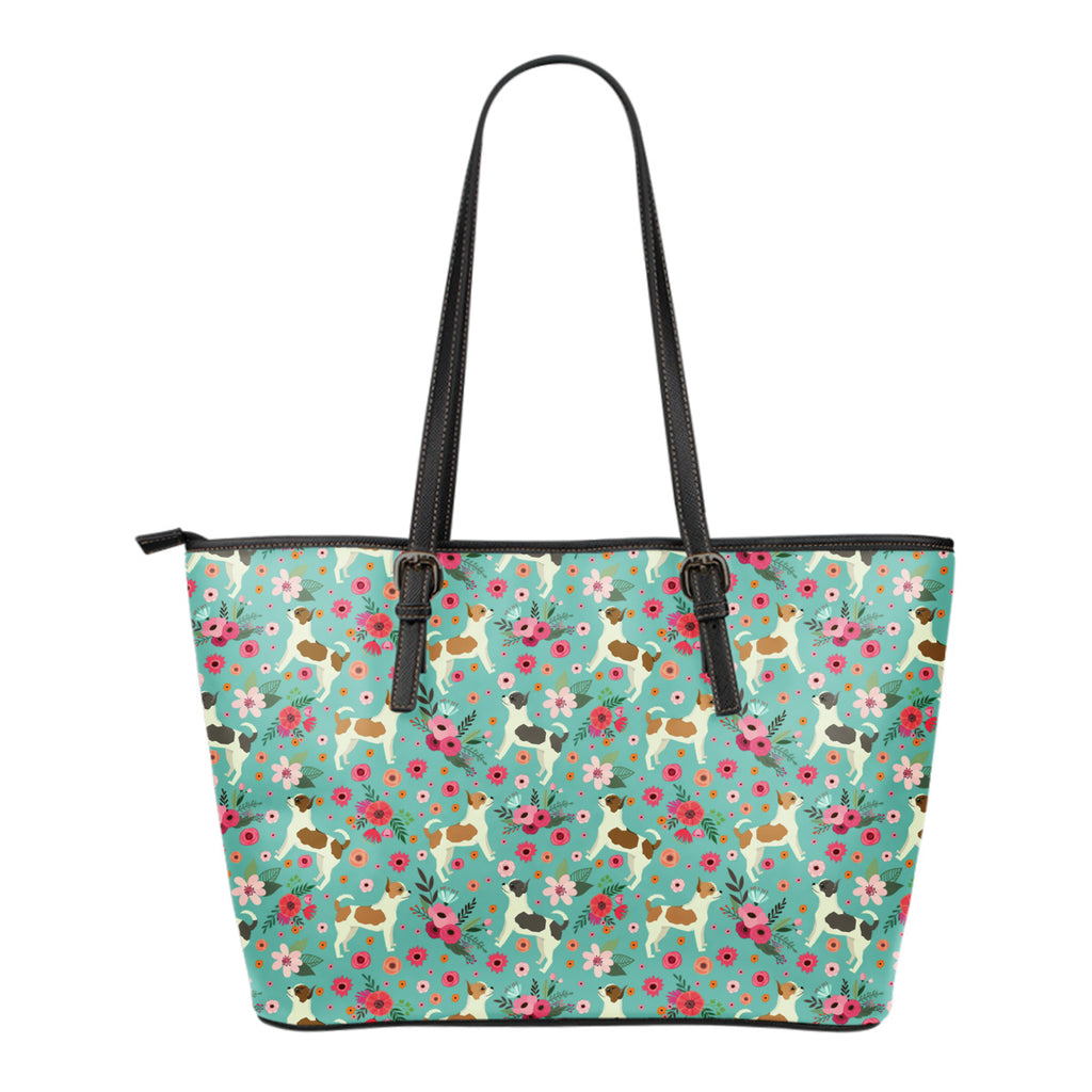 Chihuahua Flower Tote Bag