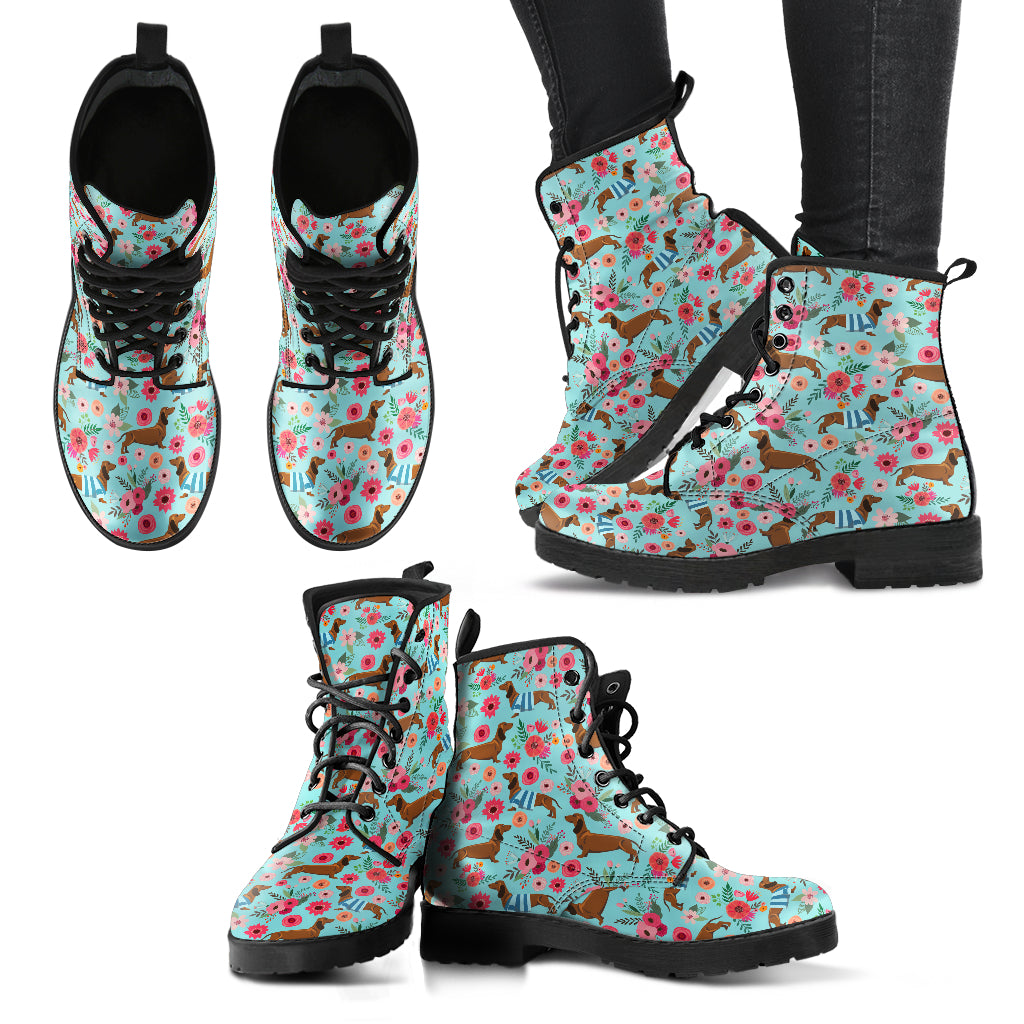 Dachshund Flower Boots-Clearance