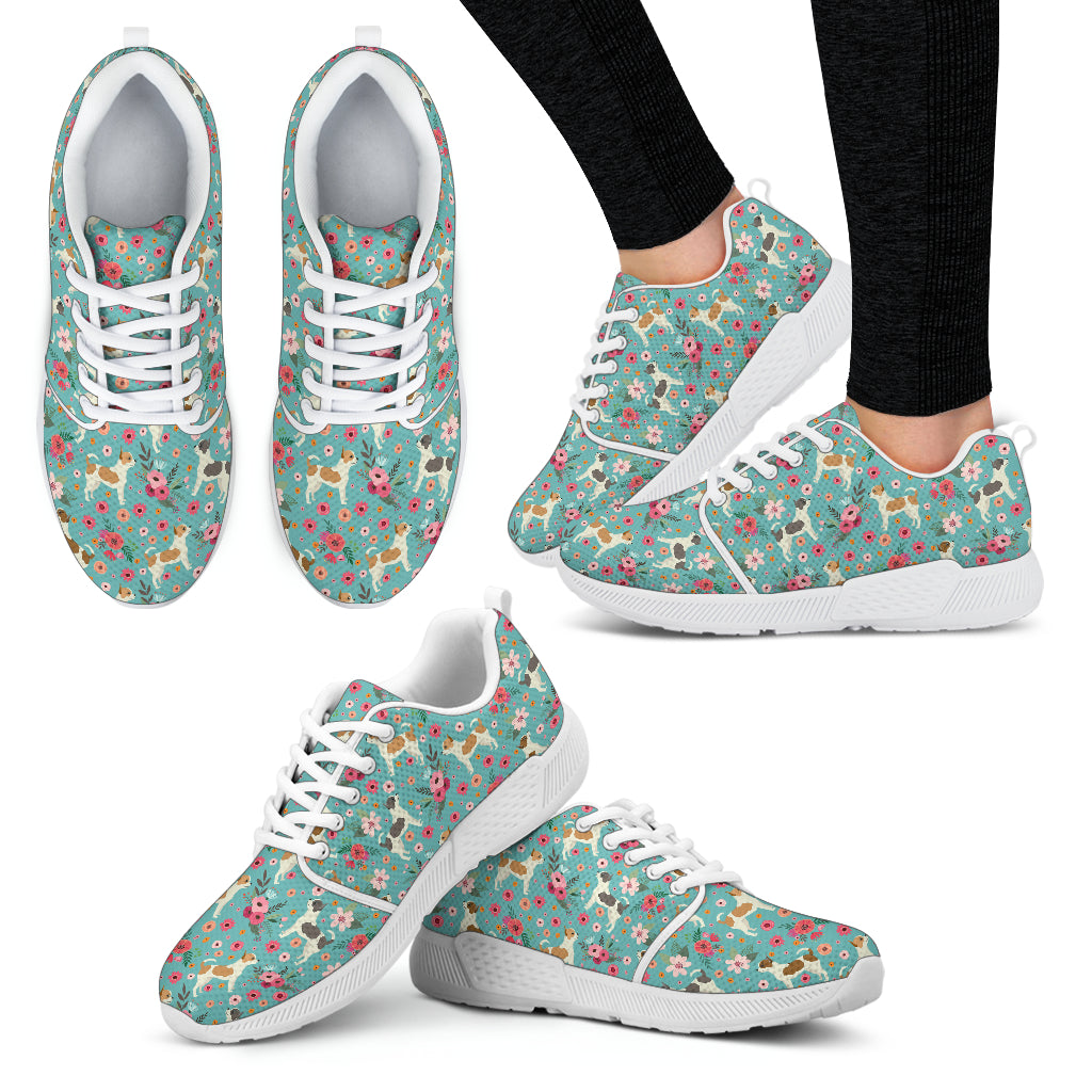 Chihuahua Flower Athletic Sneakers