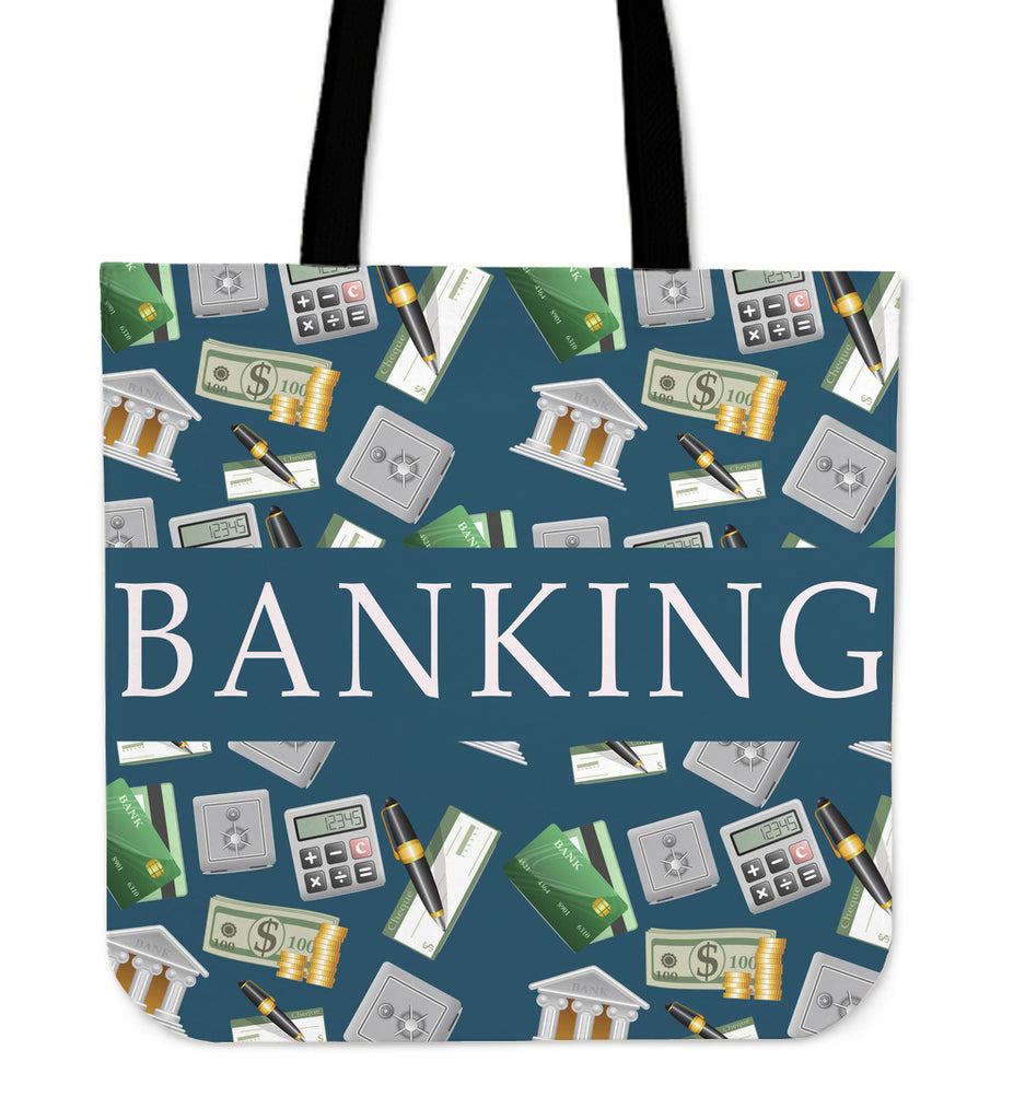 Banking Linen Tote Bag
