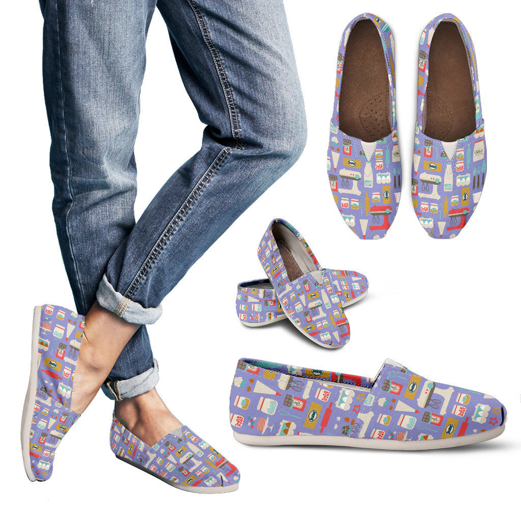 Baking Pattern Casual Shoes-Clearance