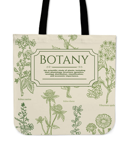 Botany Notebook Linen Tote Bag
