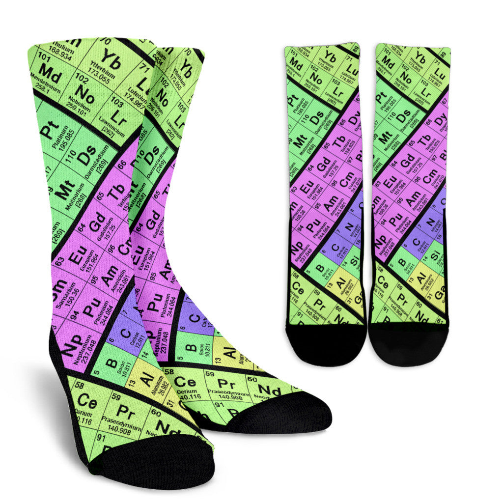 Periodic table socks groove bags periodic table socks urtaz Choice Image