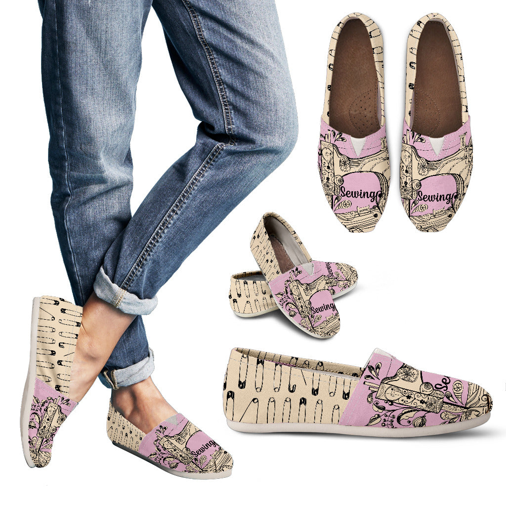 Sewing Pins Casual Shoes