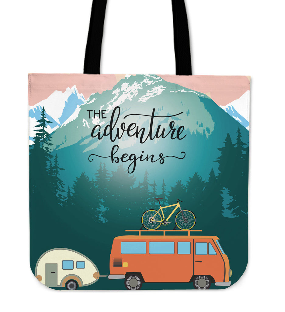 Adventure Linen Tote Bag