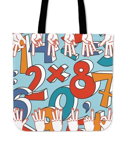 Count Me In Linen Tote Bag
