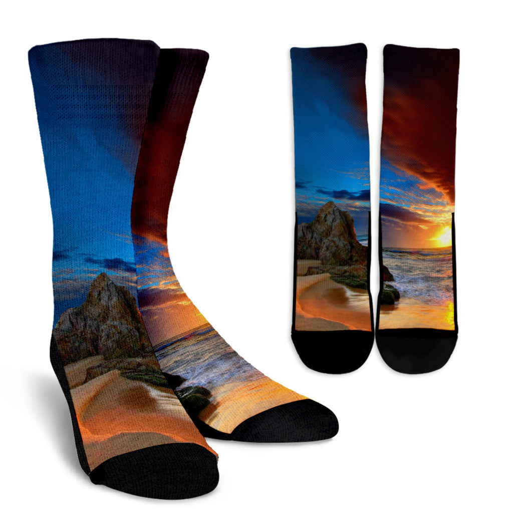 Tropical Beach Socks