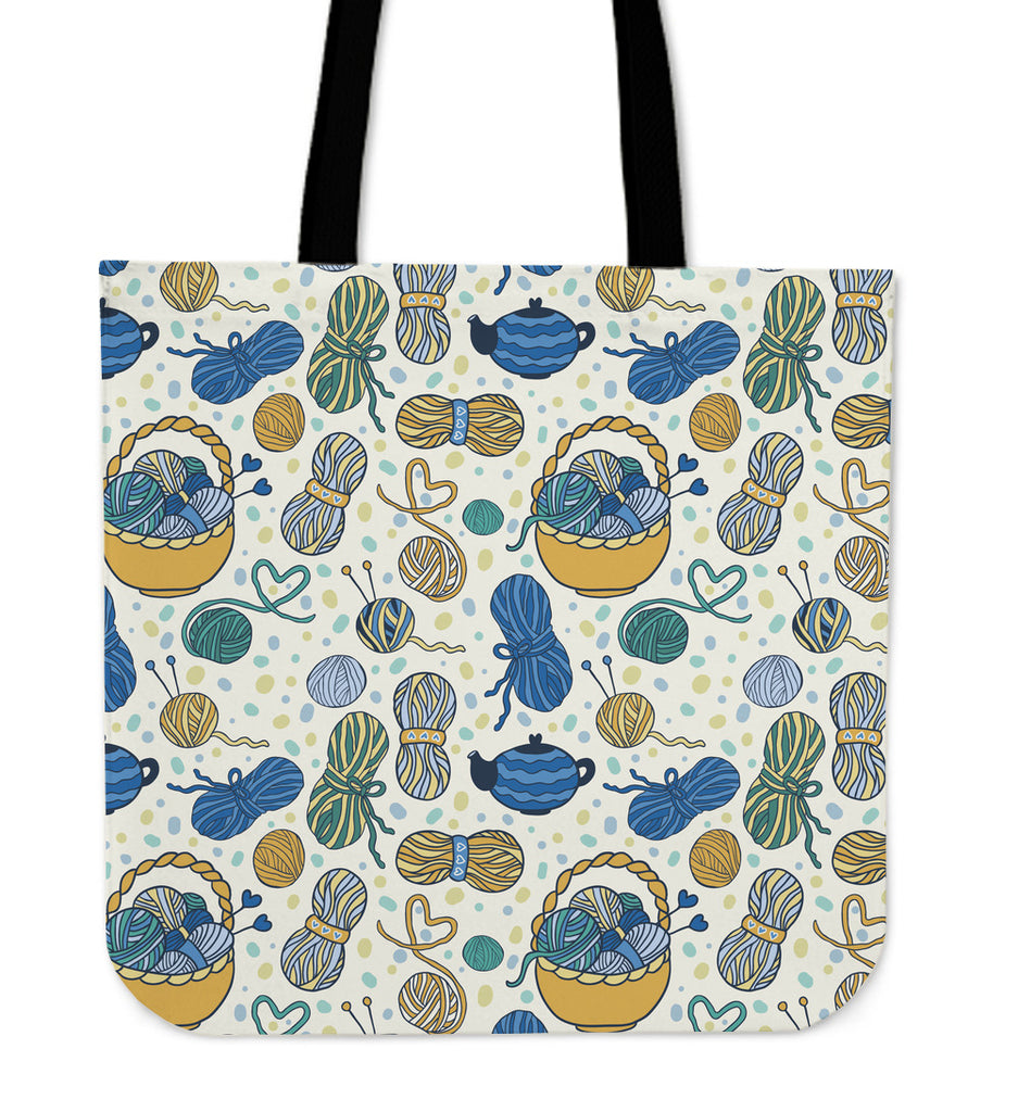 Knitting Lover Linen Tote Bag