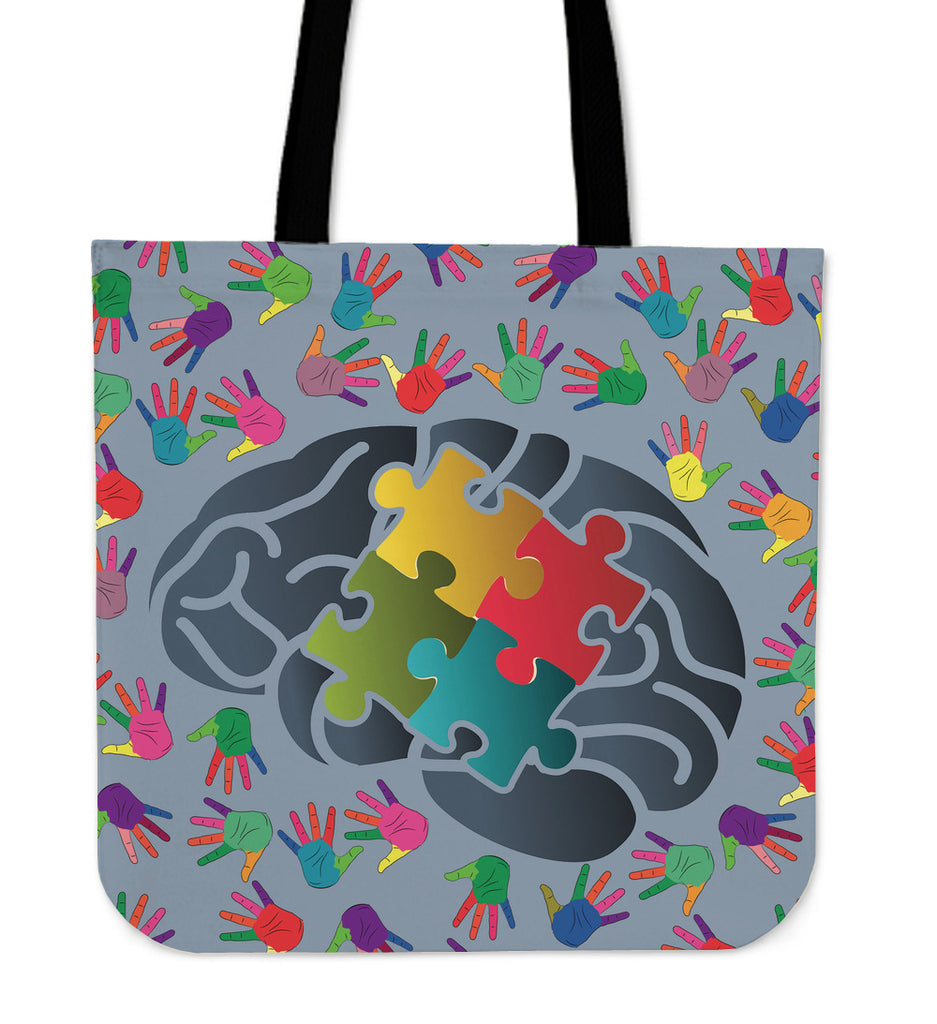 Autism Knowledge Linen Tote Bag