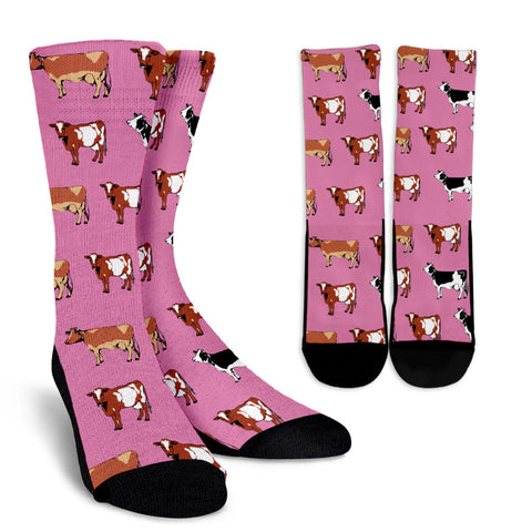 Cow Pattern Socks