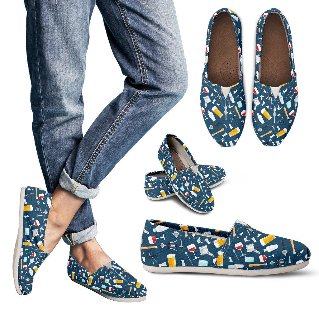 Bartender Casual Pattern Casual Shoes