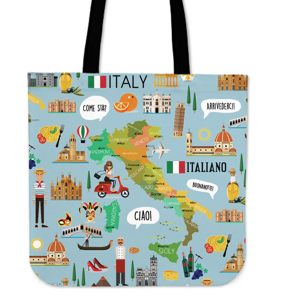 Italian Teacher Linen Tote Bag