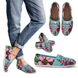 Floral Rib Diagram Casual Shoes