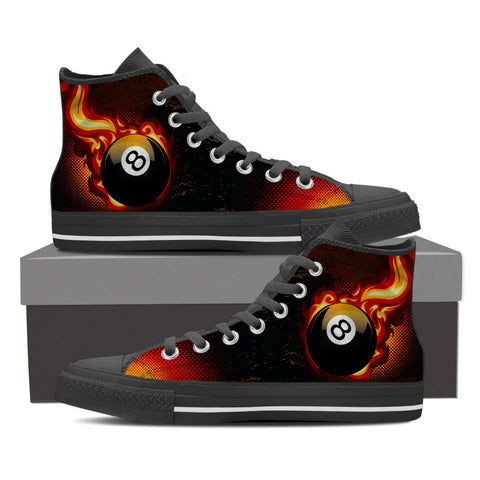 8 Ball on Fire Shoes