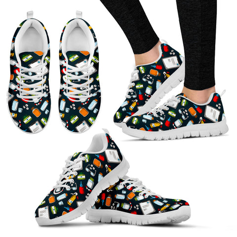 Pharmacist Pattern Sneakers-Clearance