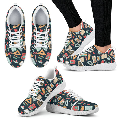 Teacher Pattern Athletic Sneakers-Clearance