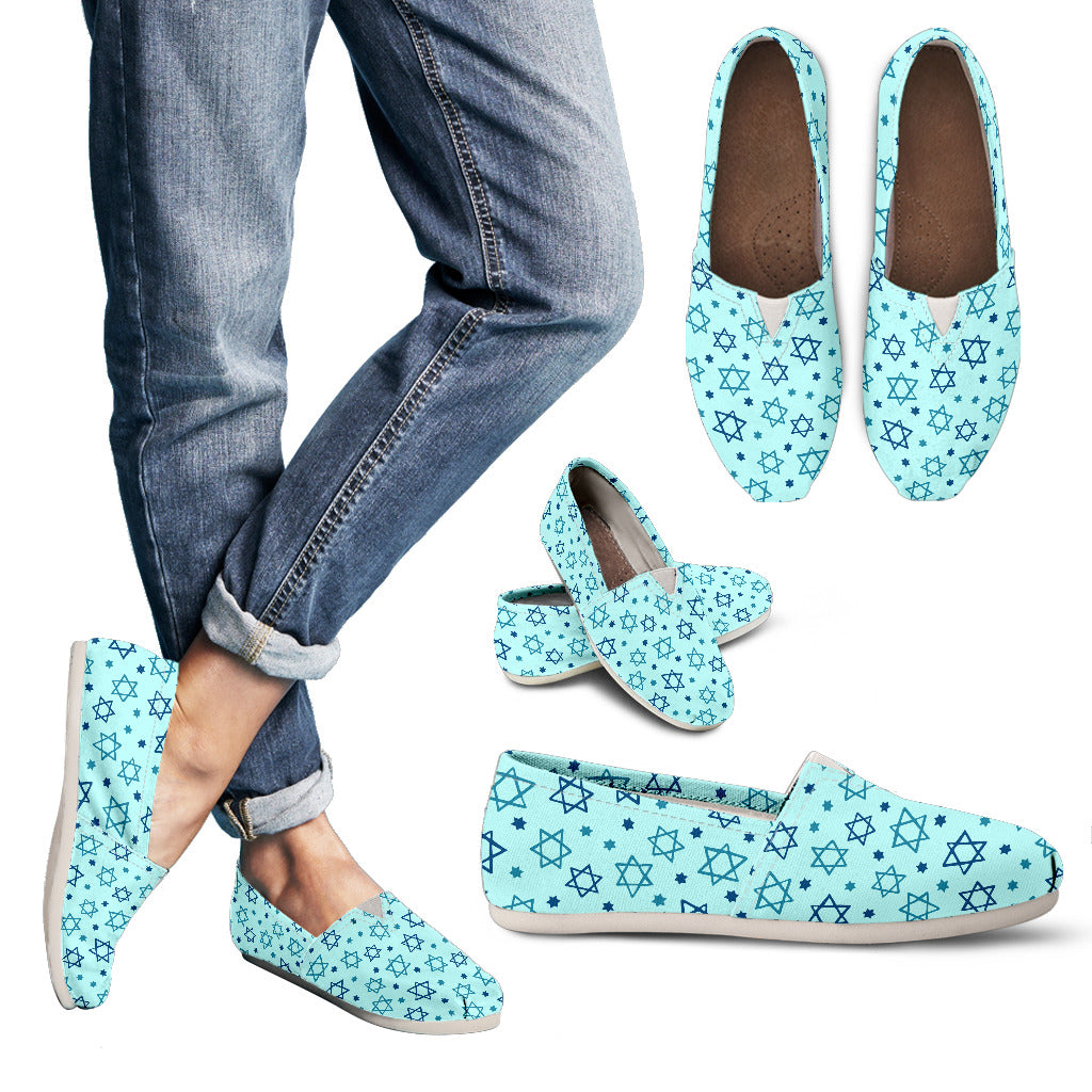 Star of David Pattern Casual Shoes-Clearance